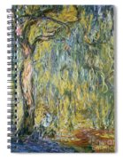 The Large Willow At Giverny Spiral Notebook