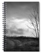 The Last Dawn - Grayscale Spiral Notebook