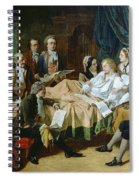 The Last Hours Of Mozart 1756-91 Henry Nelson Oneil Spiral Notebook