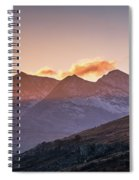 The Last Light Of The Day Over Snowdon. Spiral Notebook