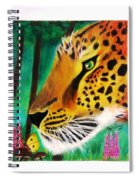 The Leopard And The Butterfly Spiral Notebook
