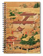 The Life And Pastimes Of The Japanese Court - Tosa School - Edo Period Spiral Notebook