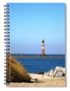 The Lighhouse At Morris Island Charleston Spiral Notebook