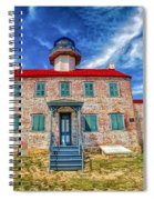 The Light At East Point Spiral Notebook