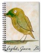 The Light Green Bird Spiral Notebook