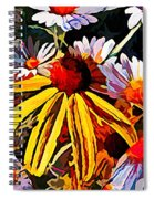 The Light Within The Flowers Spiral Notebook