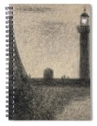 The Lighthouse At Honfleur Spiral Notebook