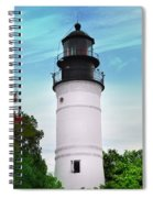 The Lighthouse At Key West Florida Spiral Notebook