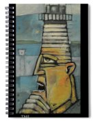 The Lighthouse Keeper Poster Spiral Notebook