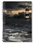 The Lighthouse Storm Spiral Notebook