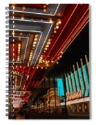 The Lights Are On In Las Vegas Spiral Notebook