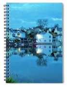 The Lights Come On In Mylor Bridge Spiral Notebook
