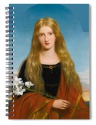 The Lily. Portrait Of Miss Bury Spiral Notebook