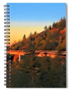 The Linn Cove Viaduct At Sunrise Spiral Notebook