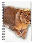 The Lioness - Vignette Spiral Notebook