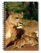 The Lions At Home Spiral Notebook