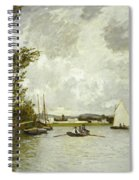 The Little Branch Of The Seine At Argenteuil Spiral Notebook