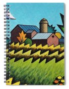 The Little Farm On The Grassy Hill Spiral Notebook