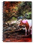 The Little Pink Unicorn By Pedro Cardona Spiral Notebook