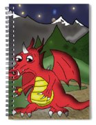 The Little Red Dragon Spiral Notebook