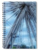 The Liverpool Wheel In Blues 3 Spiral Notebook