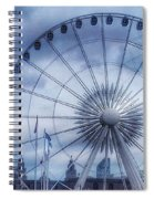 The Liverpool Wheel In Blues Spiral Notebook
