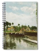 The Lock At Pontoise Spiral Notebook