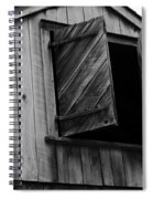 The Loft Door In Black And White Spiral Notebook