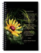 The Lone Flower Spiral Notebook