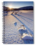 The Long Shadows Of Winter Spiral Notebook