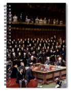 The Lord Chancellor About To Put The Question In The Debate About Home Rule In The House Of Lords Spiral Notebook