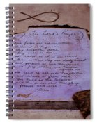 The Lord's Prayer Collage Spiral Notebook