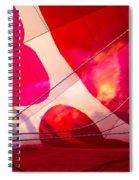 Hearts A' Fire - The Love Hot Air Balloon Spiral Notebook