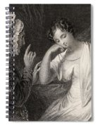 The Love Letter Engraved By Charles Spiral Notebook