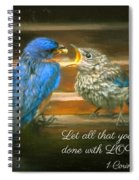 The Love Of A Father Spiral Notebook