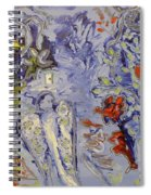 The Lovers In Blue Spiral Notebook