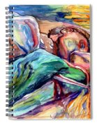 The Lovers Watercolor Spiral Notebook
