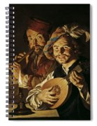 The Lutenist And The Flautist Spiral Notebook