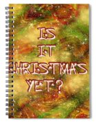 The Madness Of Christmas Card Spiral Notebook