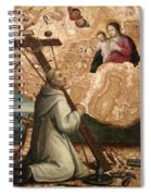 The Madonna And Child Appearing To Saint Bruno With The Instruments Of The Passion Spiral Notebook