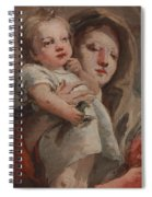 The Madonna And Child With A Goldfinch Spiral Notebook