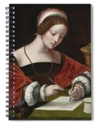 The Magdalene Writing A Letter Spiral Notebook
