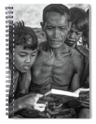 The Magic Of Books Bw Spiral Notebook