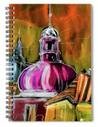 The Magical Rooftops Of Prague 01 Spiral Notebook