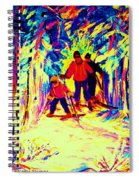 The Magical Skis Spiral Notebook