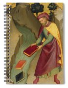 The Magus Hermogenes Casting His Magic Books Into The Water Spiral Notebook