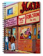 The Main Steakhouse On St. Lawrence Spiral Notebook