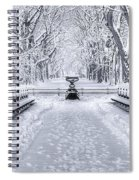 The Mall In Snow Central Park Spiral Notebook