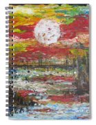 The Man And The Moon Spiral Notebook