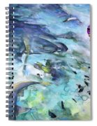 The Man And The Sharks Spiral Notebook
